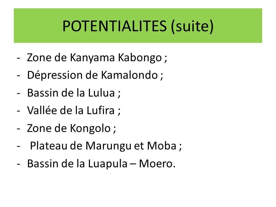 POTENTIALITES (suite)