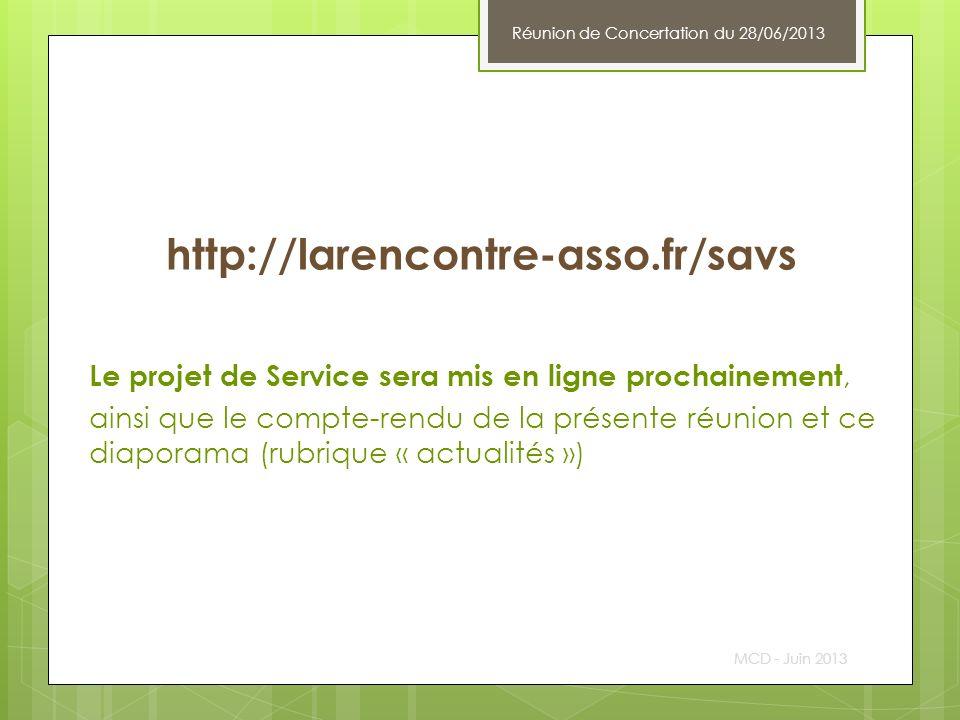 Réunion de Concertation du 28/06/2013