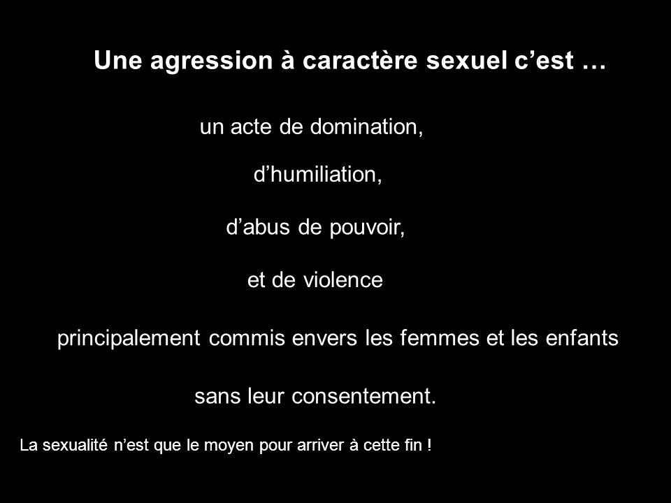 Une agression à caractère sexuel c'est …