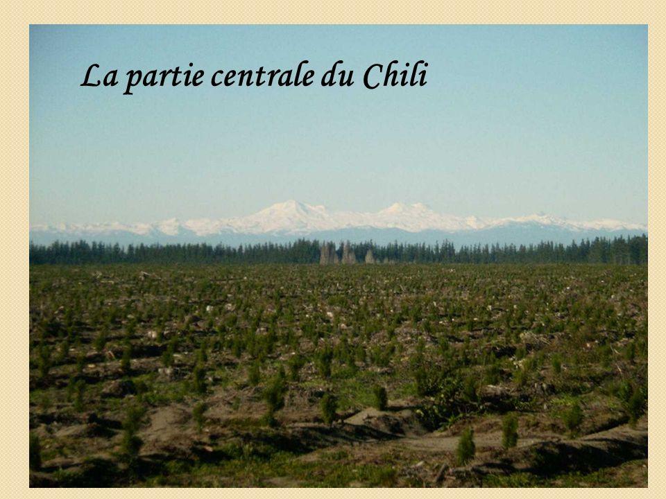 La partie centrale du Chili