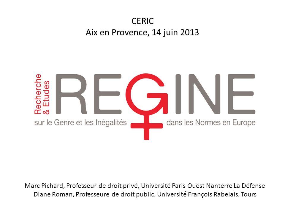 CERIC Aix en Provence, 14 juin 2013
