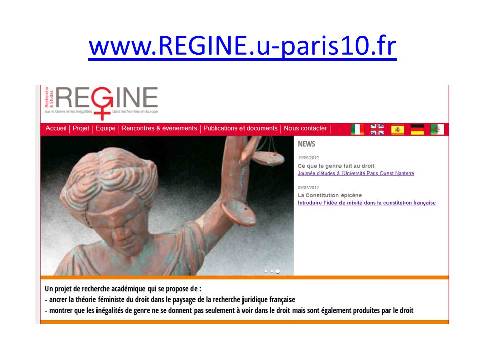 www.REGINE.u-paris10.fr