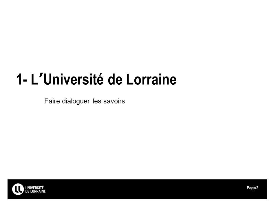 1- L'Université de Lorraine