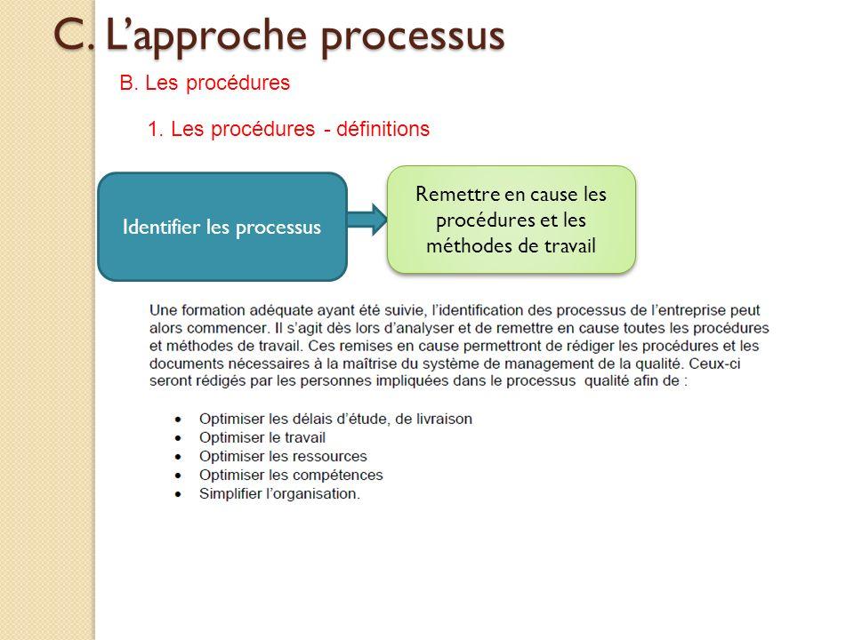 C. L'approche processus