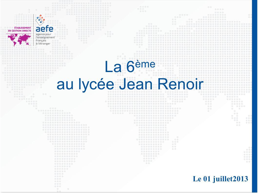 La 6ème au lycée Jean Renoir