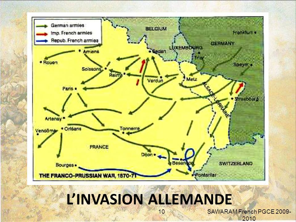 L'INVASION ALLEMANDE SAWARAM French PGCE 2009-2010