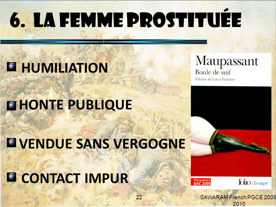 6. LA FEMME PROSTITUÉE HUMILIATION HONTE PUBLIQUE VENDUE SANS VERGOGNE