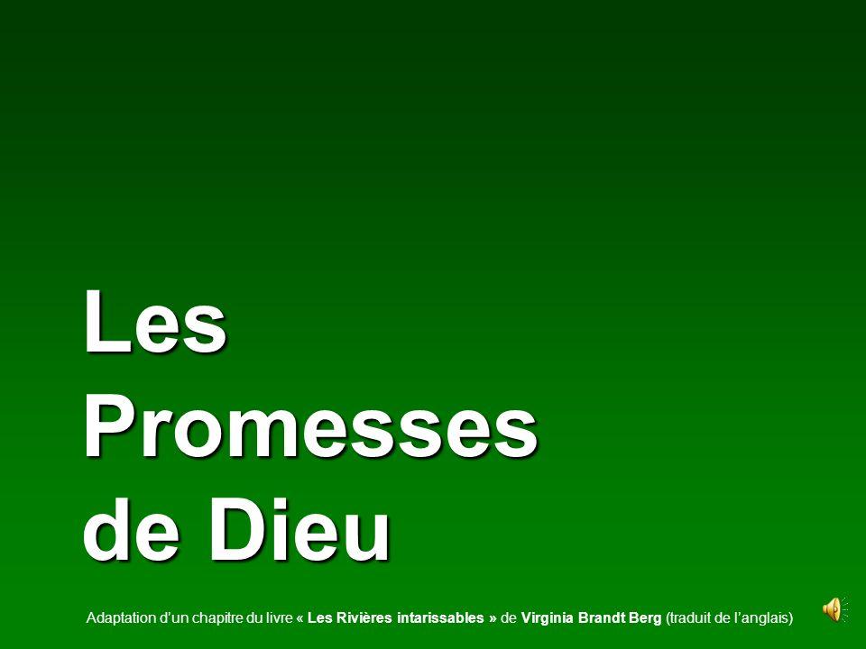 Les Promesses de Dieu Adaptation d'un chapitre du livre « Les Rivières intarissables » de Virginia Brandt Berg (traduit de l'anglais)