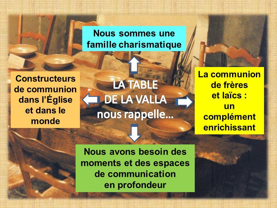 LA TABLE DE LA VALLA nous rappelle… Nous sommes une