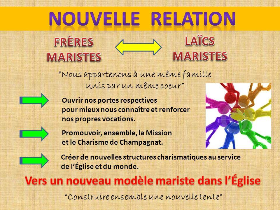 NOUVELLE RELATION LAÏCS FRÈRES MARISTES MARISTES
