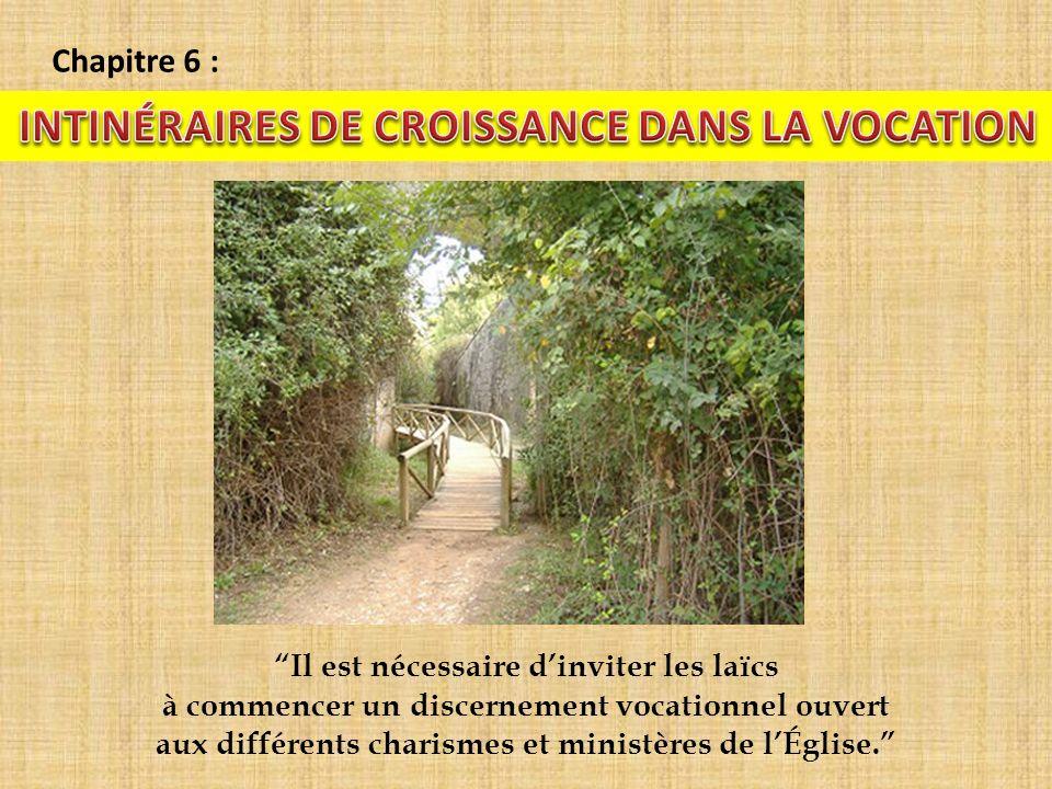 INTINÉRAIRES DE CROISSANCE DANS LA VOCATION
