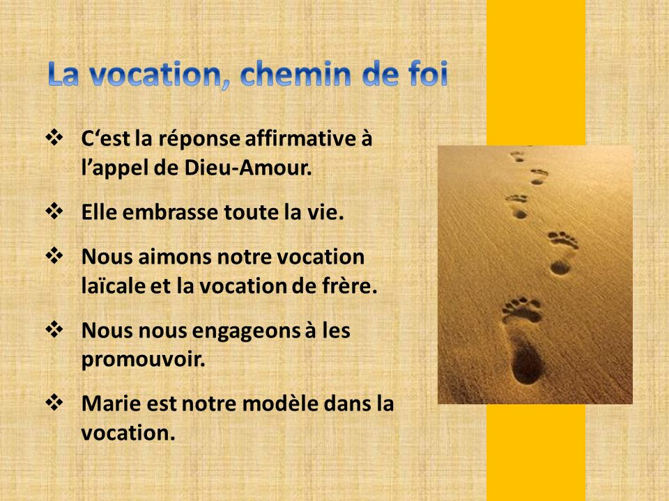 La vocation, chemin de foi