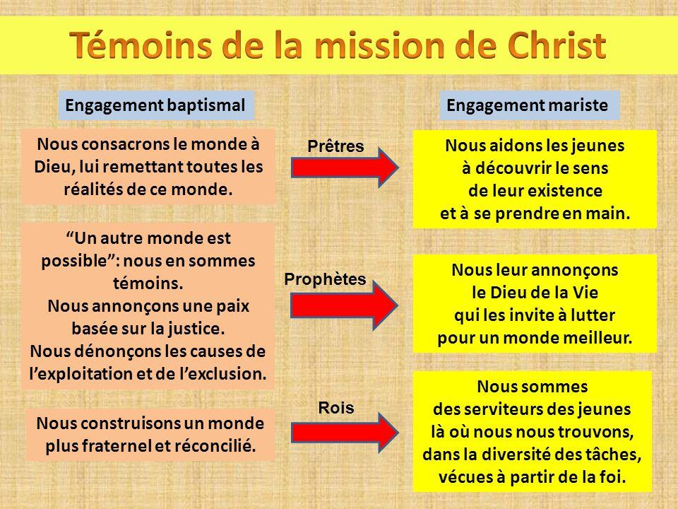 Témoins de la mission de Christ