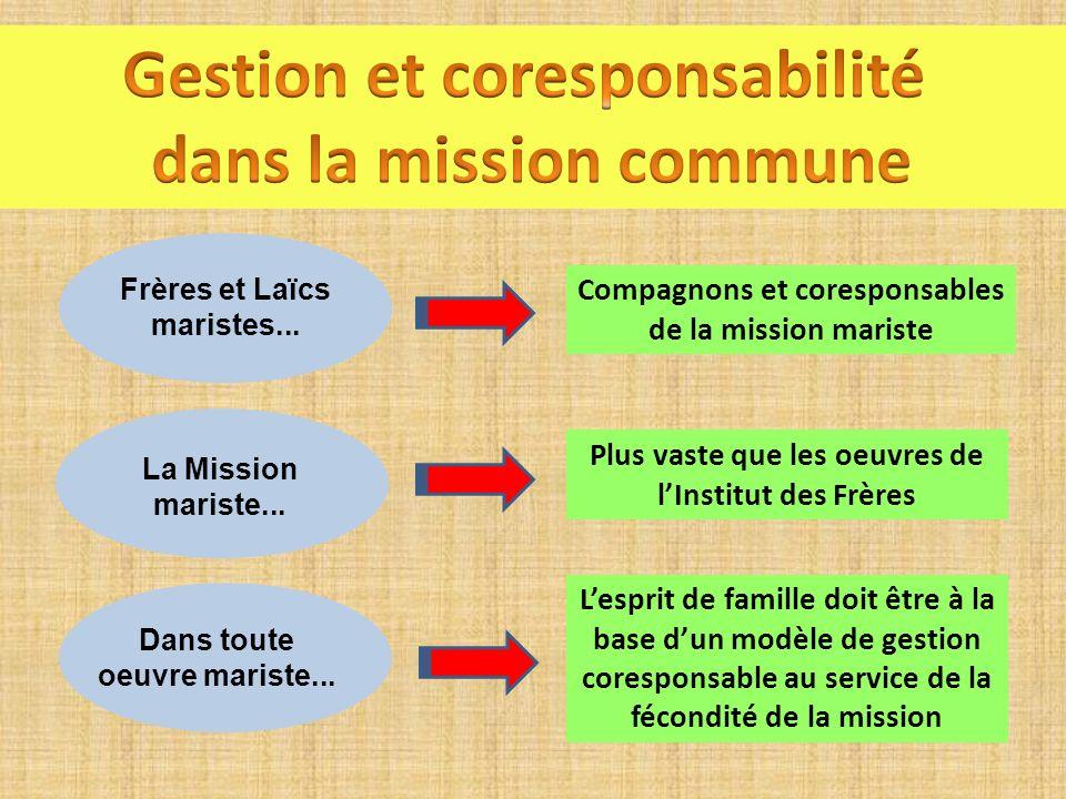 Gestion et coresponsabilité dans la mission commune