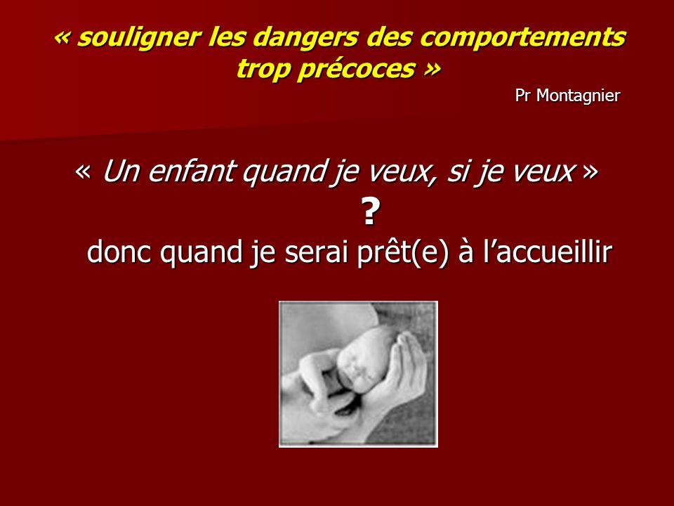 « souligner les dangers des comportements trop précoces » Pr Montagnier