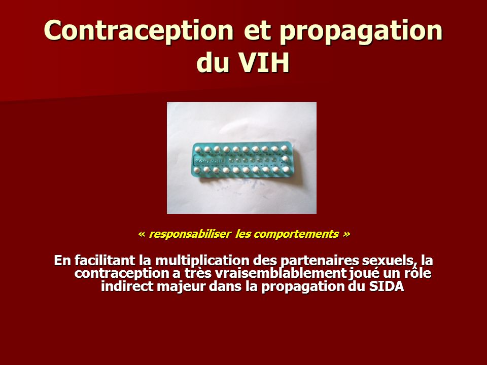 Contraception et propagation du VIH
