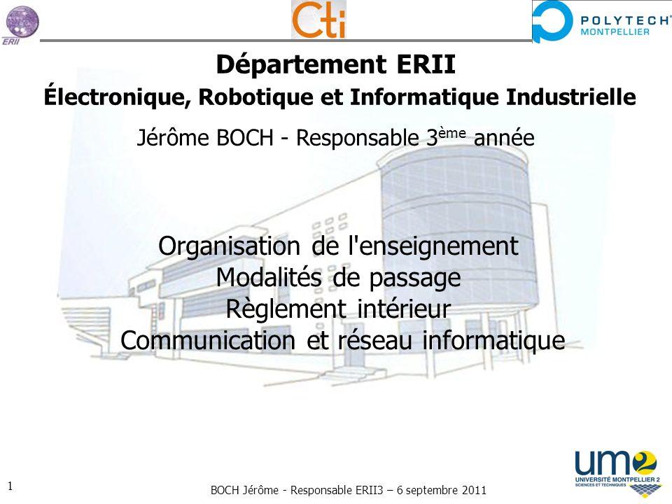 Département ERII Électronique, Robotique et Informatique Industrielle