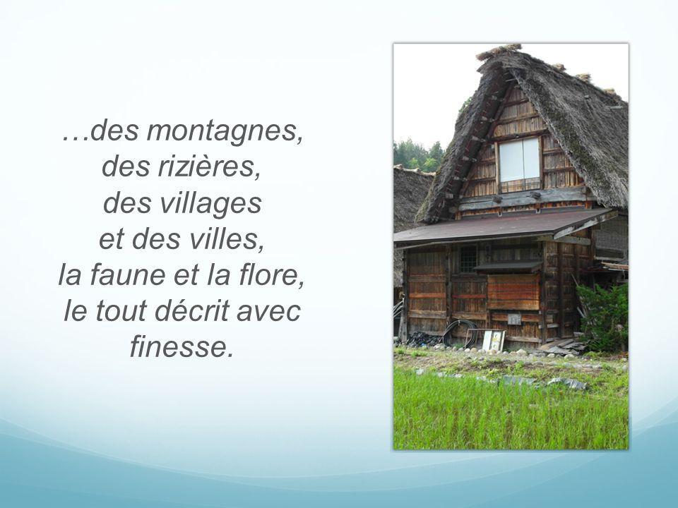 …des montagnes, des rizières, des villages et des villes, la faune et la flore, le tout décrit avec finesse.