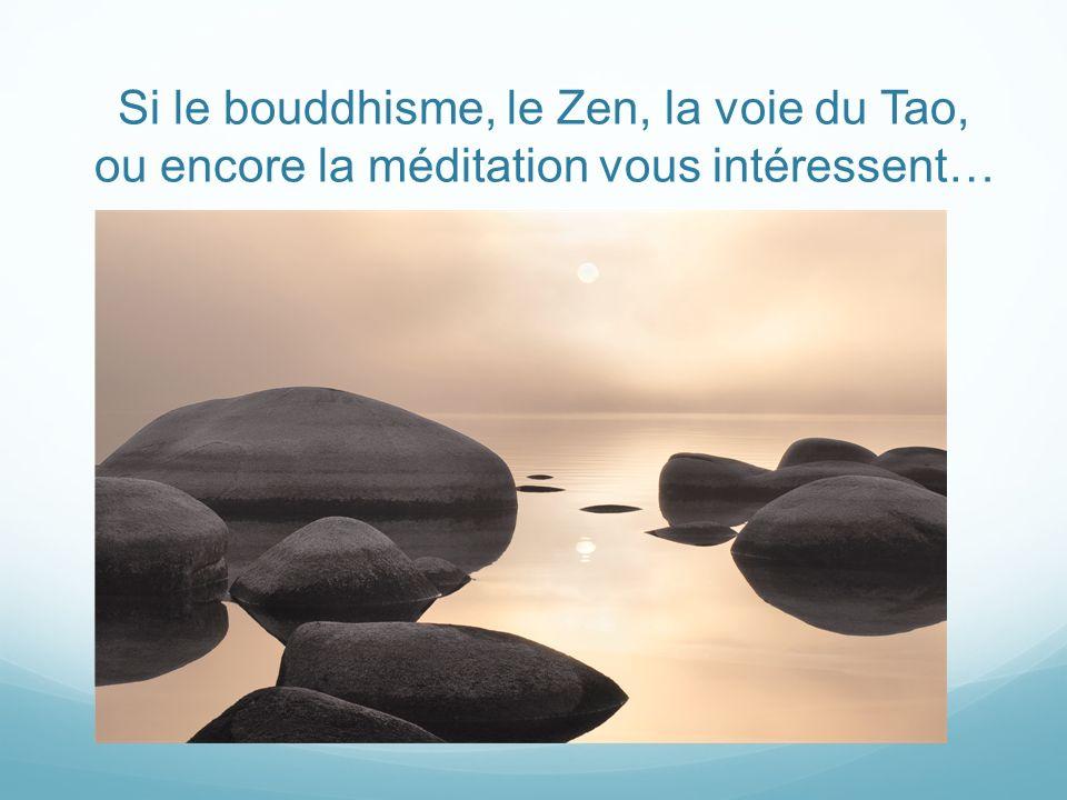 Si le bouddhisme, le Zen, la voie du Tao, ou encore la méditation vous intéressent…