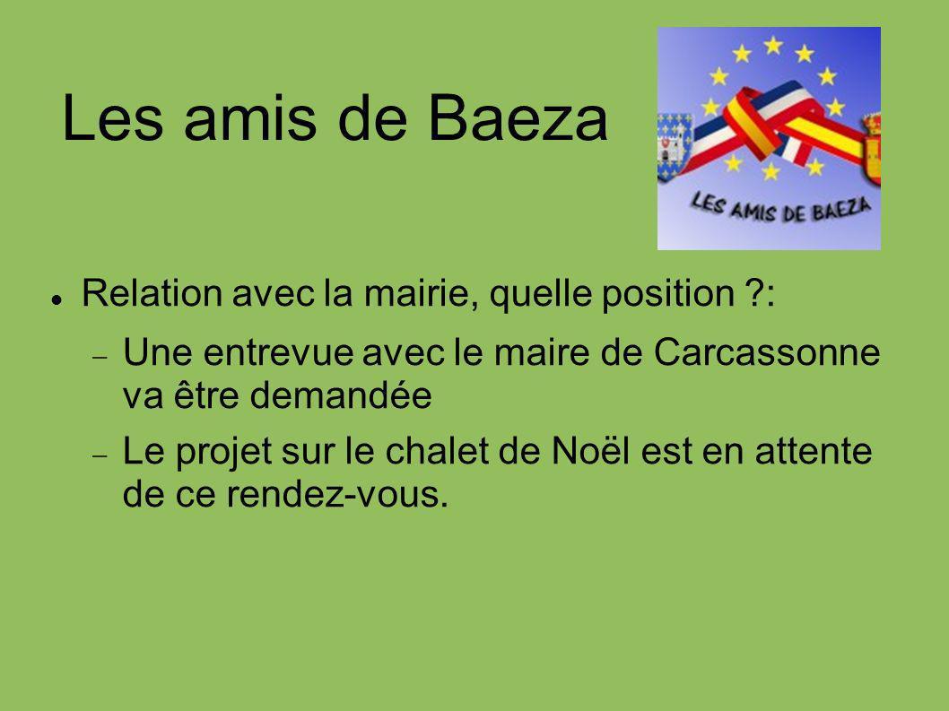 Les amis de Baeza Relation avec la mairie, quelle position :