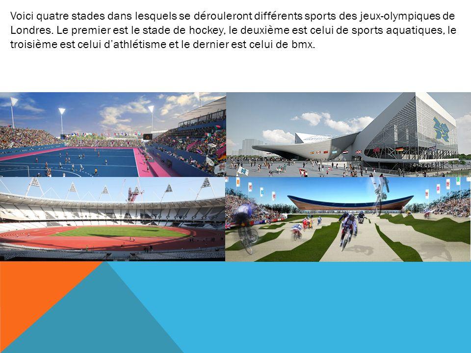 Voici quatre stades dans lesquels se dérouleront différents sports des jeux-olympiques de Londres.