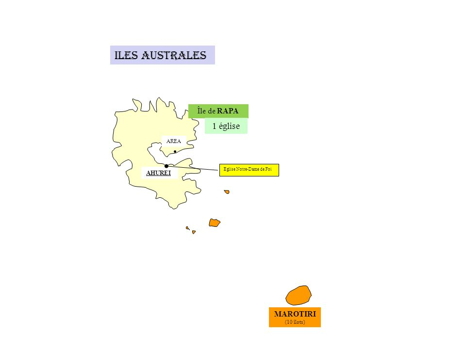 Iles Australes 1 église Île de RAPA MAROTIRI AHUREI AREA (10 îlots)
