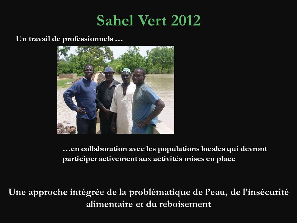 Sahel Vert 2012 Un travail de professionnels …