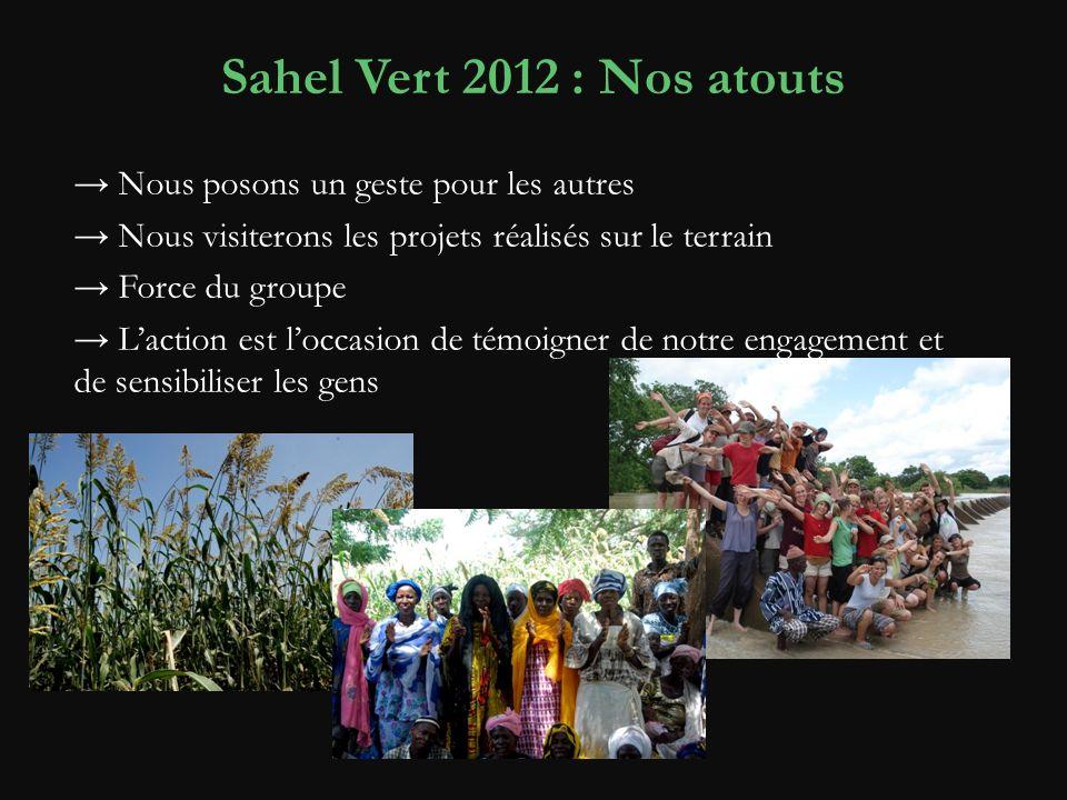 Sahel Vert 2012 : Nos atouts → Nous posons un geste pour les autres