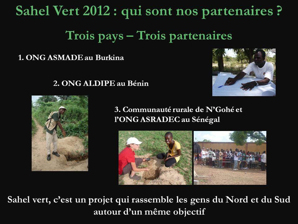 Sahel Vert 2012 : qui sont nos partenaires