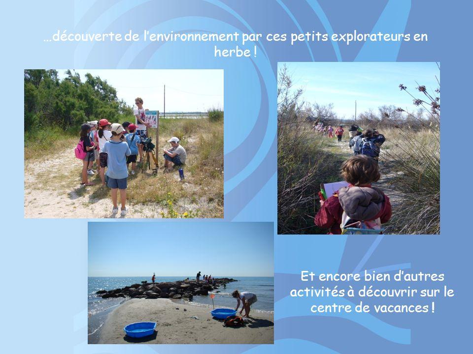 …découverte de l'environnement par ces petits explorateurs en herbe !