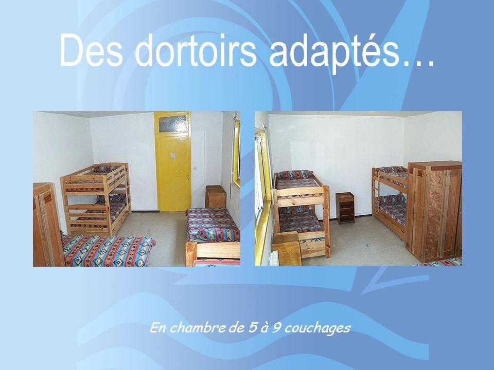 En chambre de 5 à 9 couchages