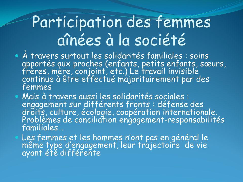 Participation des femmes aînées à la société