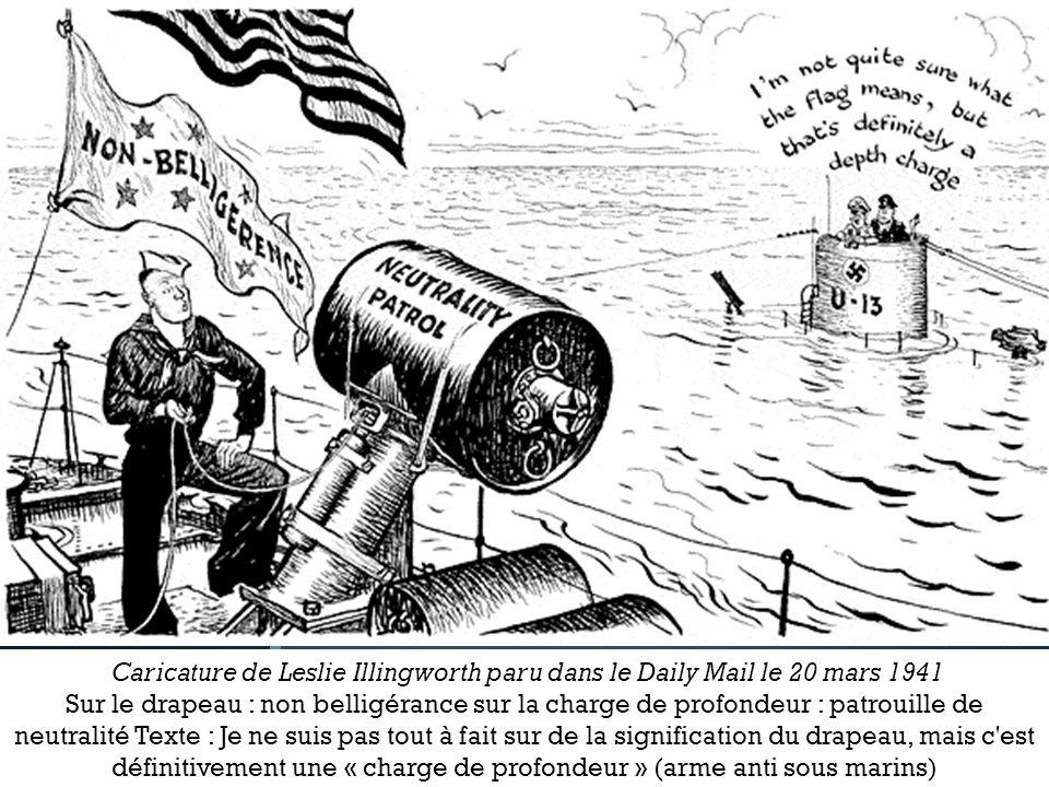 sur le drapeau : non belligérance sur la charge de profondeur : patrouille de neutralité Texte : Je ne suis pas tout à fait sur de la signification du drapeau, mais c est définitivement une charge de profondeur