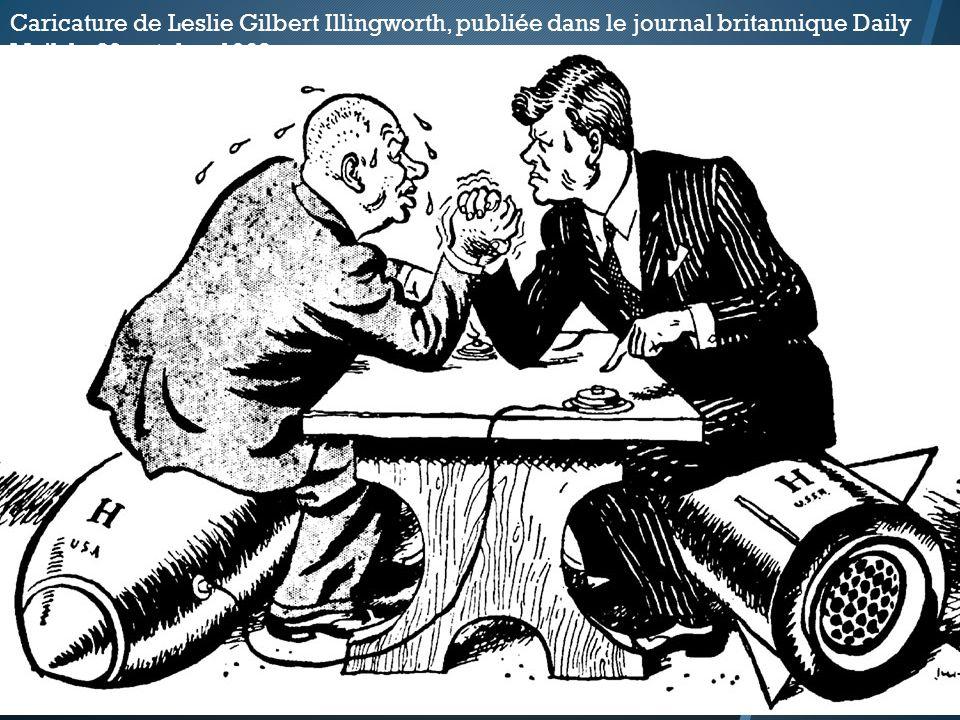 Caricature de Leslie Gilbert Illingworth, publiée dans le journal britannique Daily Mail, le 29 octobre 1962.