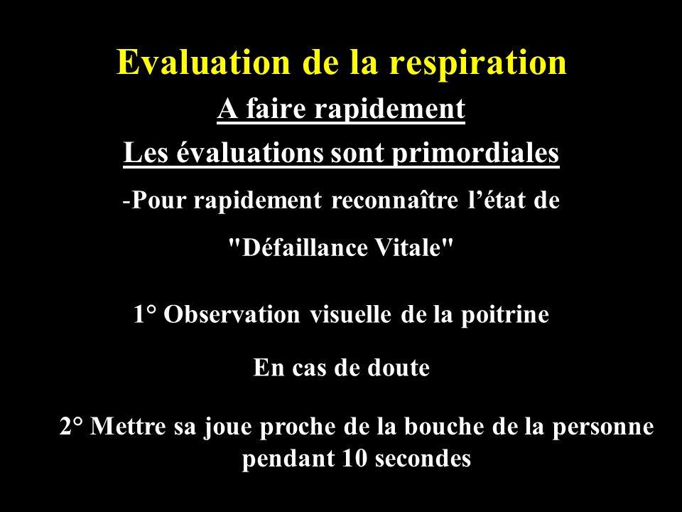 Evaluation de la respiration