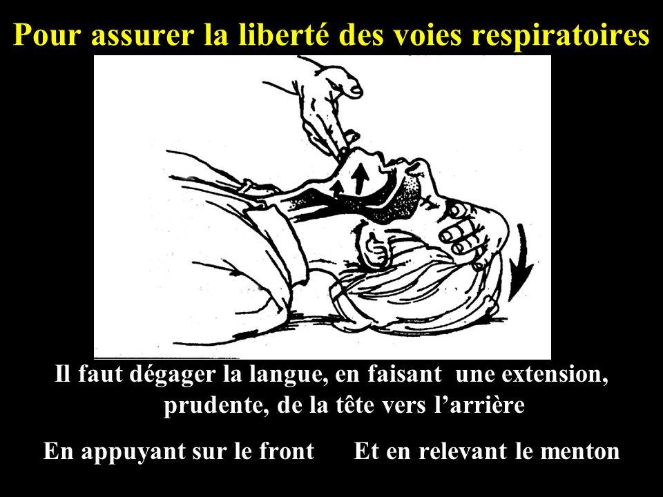 Pour assurer la liberté des voies respiratoires