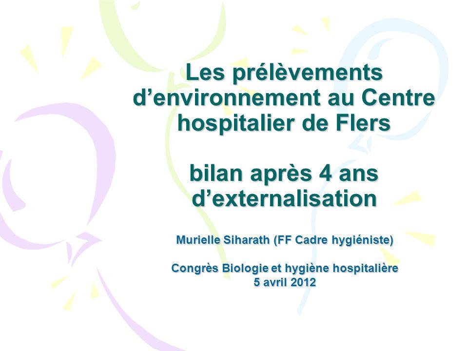 Les prélèvements d'environnement au Centre hospitalier de Flers bilan après 4 ans d'externalisation