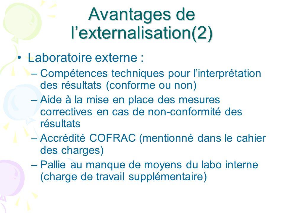 Avantages de l'externalisation(2)
