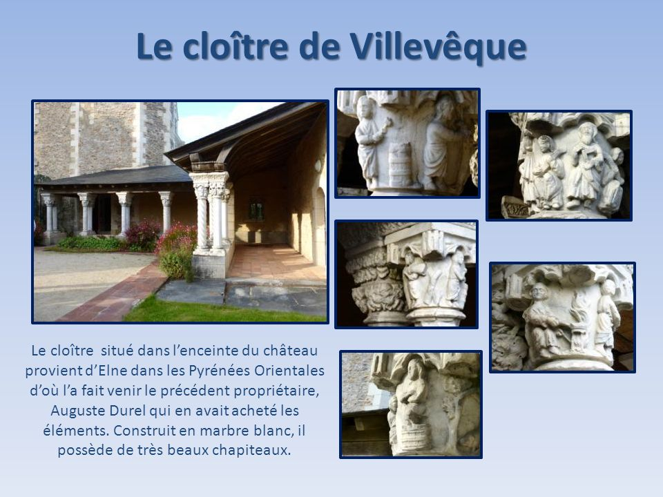Le cloître de Villevêque