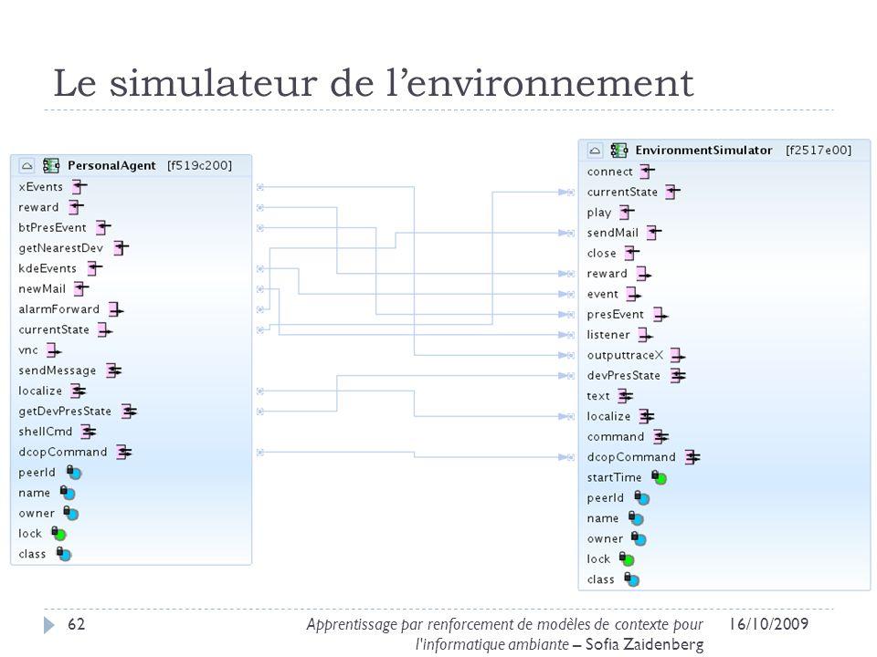 Le simulateur de l'environnement