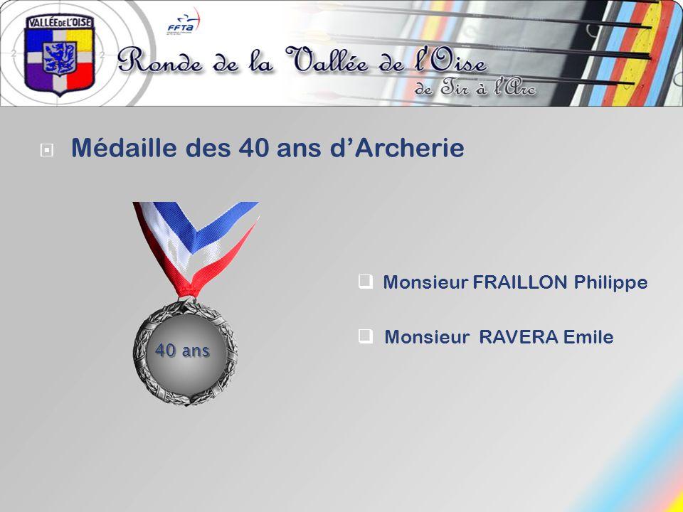 Médaille des 40 ans d'Archerie