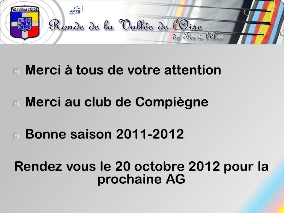 Rendez vous le 20 octobre 2012 pour la prochaine AG