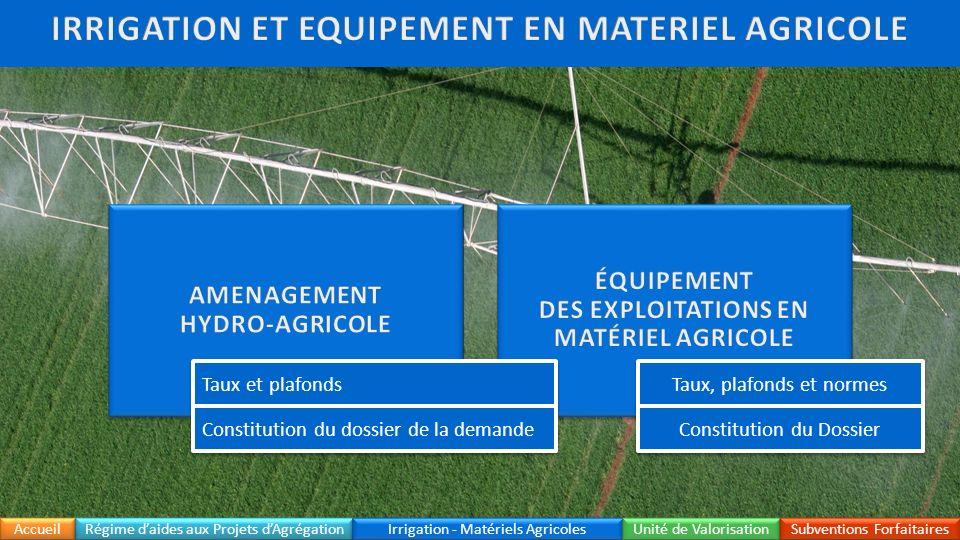 IRRIGATION ET EQUIPEMENT EN MATERIEL AGRICOLE