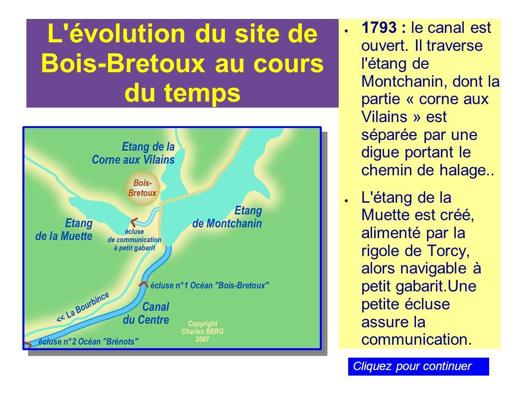 L évolution du site de Bois-Bretoux au cours du temps