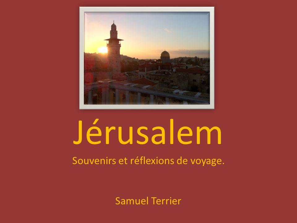 Jérusalem Souvenirs et réflexions de voyage. Samuel Terrier