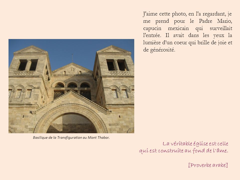 Basilique de la Transfiguration au Mont Thabor.