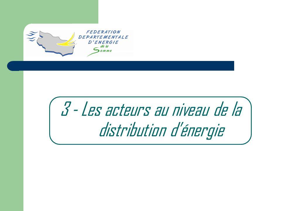 3 - Les acteurs au niveau de la distribution d'énergie