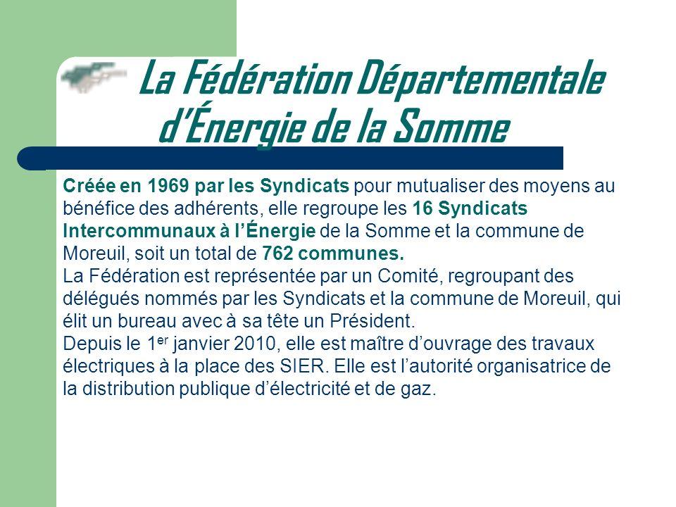 La Fédération Départementale d'Énergie de la Somme