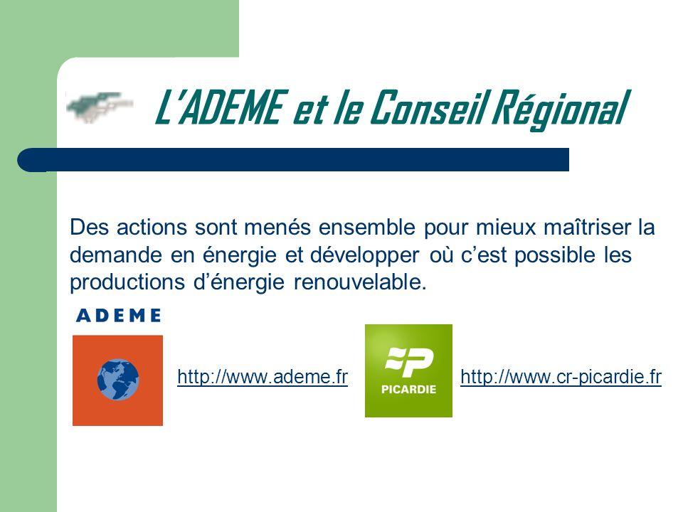 L'ADEME et le Conseil Régional