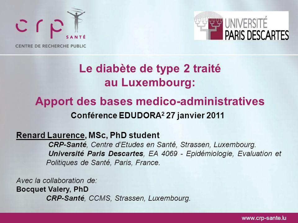 Le diabète de type 2 traité au Luxembourg: